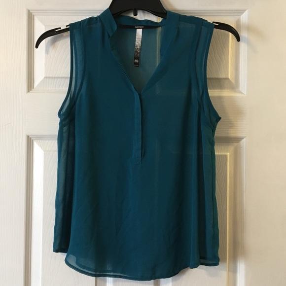 Kensie Tops - Sheer sleeveless blouse
